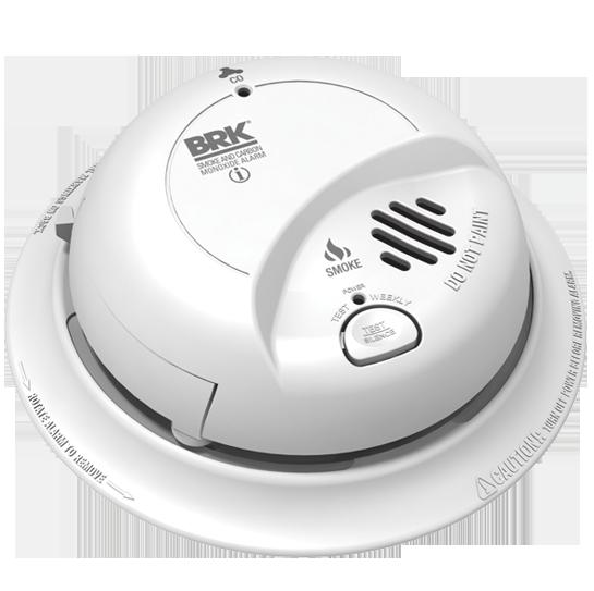 BRK - Smoke Alarm & Carbon Monoxide Detector with Battery