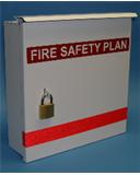 fire safety plan box.